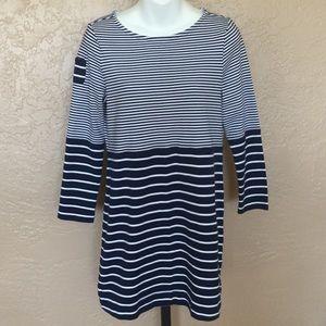 Vineyard Vines Navy White Stripe Dress M